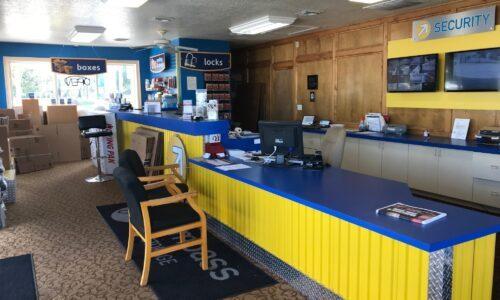 Rental office at Compass Self Storage in Bradenton, FL.