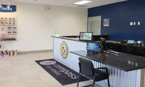 Rental office at Compass Self Storage in West Palm Beach.