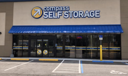 Front of Compass Self Storage in West Palm Beach.