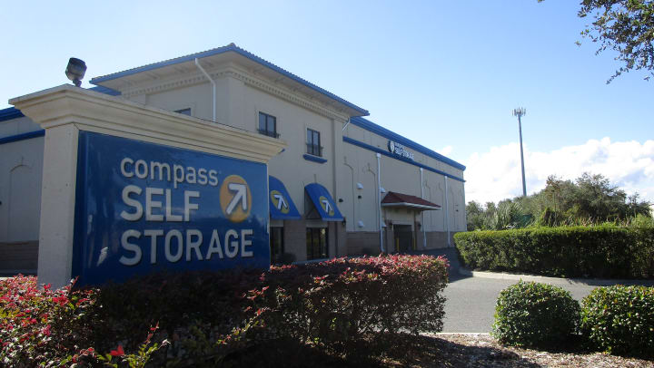 Front of Compass Self Storage facility.