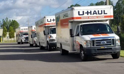 Uhaul trucks in Ponte Vedre, Florida.
