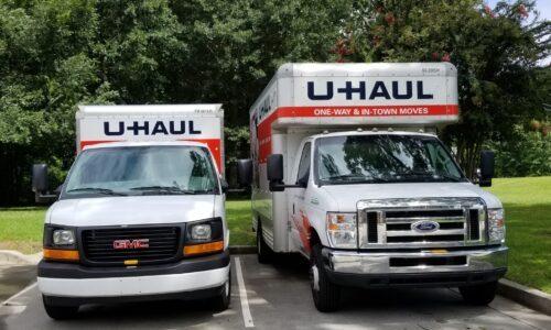 Uhaul trucks in Wendell, NC.