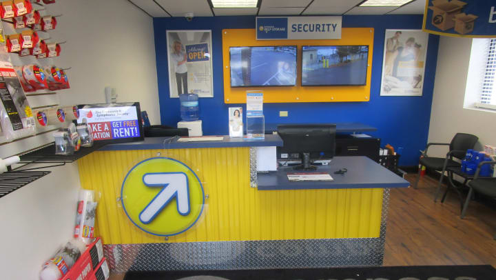 Front desk of a Compass Self Storage facility.
