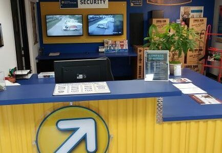 Front desk of Compass Self Storage in Hebron, KY.
