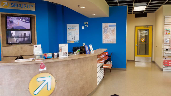 Front desk of Compass Self Storage facility.