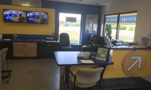 Rental office at Compass Self Storage in East Lansing, MI.