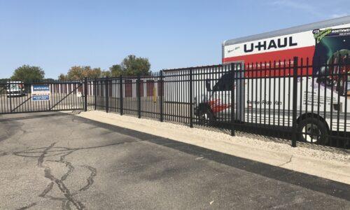 A Uhaul rental truck at Compass Self Storage East Lansing, MI.
