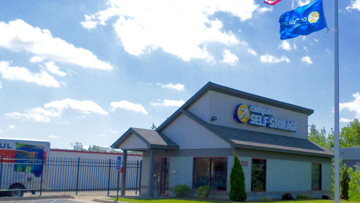 Compass Self Storage facility in East Lansing, Michigan.