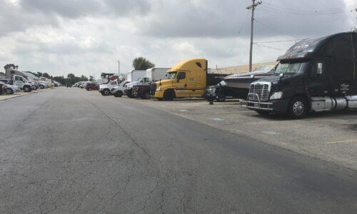 Outdoor storage for vehicles in Warren, MI.
