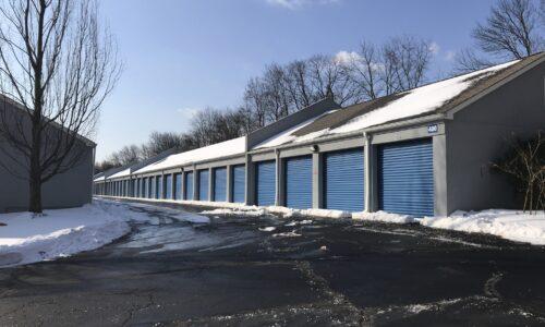 Drive-up storage units in Asbury, NJ.
