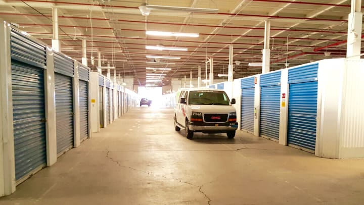 Drive-up climate controlled storage units.