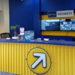 Front desk of a Compass Self Storage office.