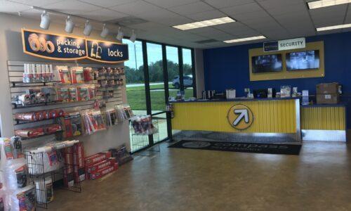 Self storage rental office in McDonough, GA.