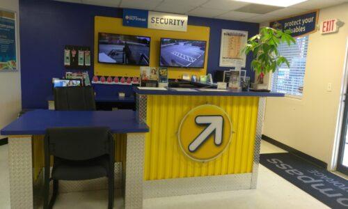 Self storage rental office in Conyers, GA.