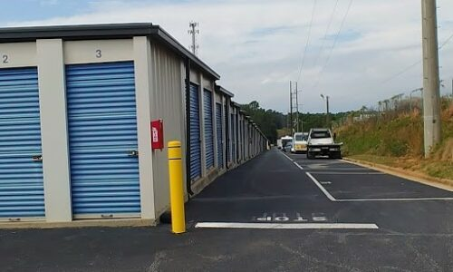 Drive-up storage units in Lawrenceville.