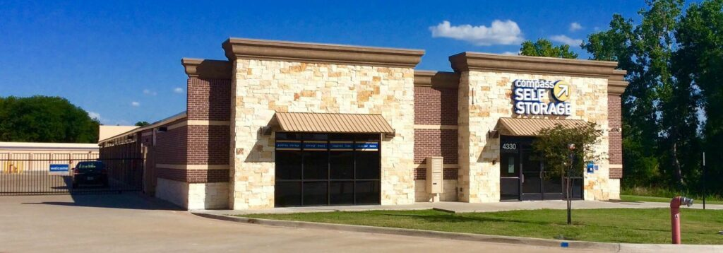 Compass Self Storage facility in Grand Prairie, Texas.