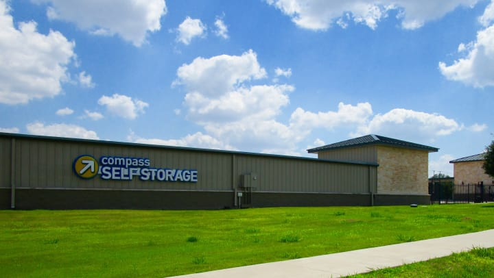 Compass Self Storage facility in Fate, Texas.