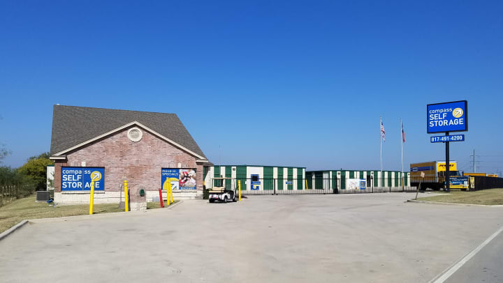 Compass Self Storage facility in Fort Worth, TX.