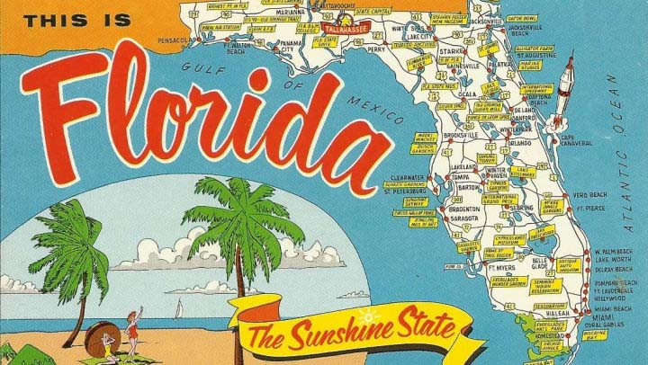 Vintage illustration of Florida.