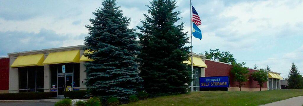 Compass Self Storage facility in Novi, Michigan.