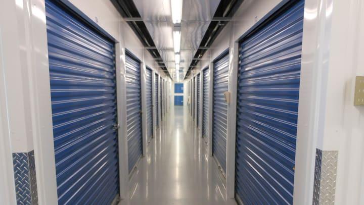 Interior hallway of Compass Self Storage facility.