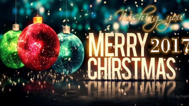 """Wishing you a Merry Christmas 2017"""