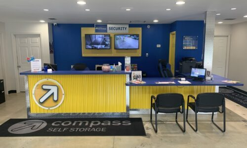 Rental office at Compass Self Storage in Jacksonville, FL.