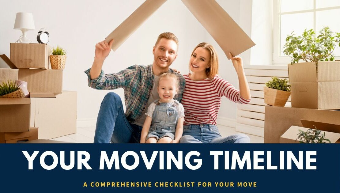 a family sitting on the floor of their home is surrounded by moving boxes