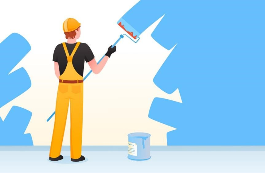 Painting a room in your house